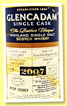 Glencadam 13 yo 2007/2020 (40%, OB, Whisky Journey Singapore, 1st fill bourbon, cask #27, 368 bottles)