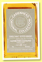 Glenrothes-Glenlivet 23 yo (46%, Cadenhead, Original Collection, bourbon and sherry, 2020)