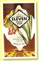 Sample Eleven Extra-Matured (54.8%, Kintra Spirits and The Rum Mercenary, blended rum, +/-2020)