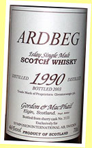 Ardbeg 1990/2003 (46%, G&M for Symposion Sweden, cask #3133, sherry)