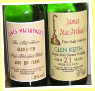 Glen Keith 21yo 1973 (50.9%, James MacArthur)