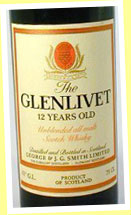 Glenlivet 12yo 'unblended all malts' (40%, OB, 1970's)