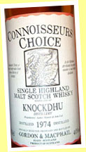 Knockdhu 1974/1991 (40%, G&M CC old map label)