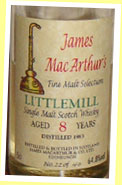 Littlemill 8yo 1983 (64.8%, James MacArthur, Fine Malt Selection)