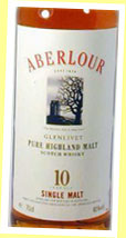 Aberlour 10yo (40%, OB, white label, late 80's)