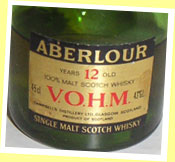 Aberlour 12yo 'VOHM' (43%, OB, Cognac-shaped bottle, 80's)