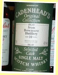 Bowmore 10yo (42.5%, Cadenhead Original Collection)