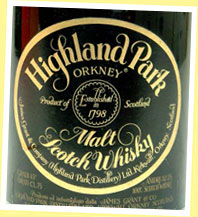 Highland Park 17yo 'no vintage' (43%, OB, James Grant green dumpy, 70's)