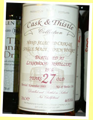 Linkwood 27yo 1976/2003 (46%, Cask and Thistle, 336 bottles)