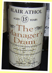 Blair Athol 15yo (59.4%, OB, Manager's Choice, bottled Dec 1996)