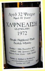 Clynelish 32yo 1972/2005 (49.4%, The Whisky Exchange, 206 bottles)
