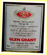 Glen Grant 1948 and 1961/1981 (40%, G&M, Royal Marriage)