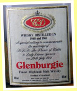 Glenburgie 1948 and 1961/1981 (40%, G&M, Royal Marriage)