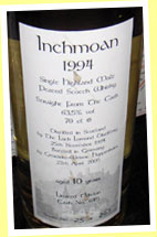 Inchmoan 10yo 1994/2005 (63.5%, Weiser, cask #645, 262 bottles)