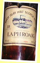 Laphroaig 18yo 1966/1985 (54%, G&M for Intertrade, 250 bottles)