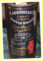 Millburn 29yo 1974/2004 (53.9%, Cadenhead Authentic Collection, 246 bottles)