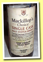 Coleburn 1980/2004 (62.9%, McKillop's Choice, sherry wood, cask #1261)