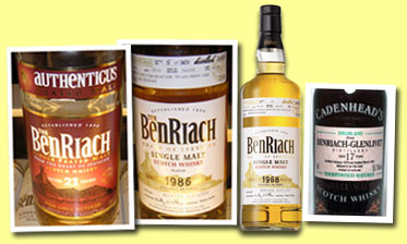 Benriach 21yo 'Authenticus' (46%, OB, peated, 4800 bottles, 2005)