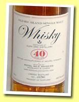 Glen Ord 40yo (40.1%, Royal Mile Whiskies, 300 bottles, circa 2005)