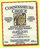Glenlochy 1974 (40%, G&M Connoisseur's Choice old map label, early 1990's)