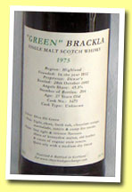 Royal Brackla 27yo 1975/2002 'Green Brackla' (59.7%, The Whisky Exchange, cask #5471, 204 bottles)