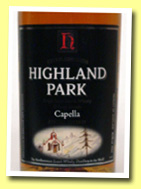Highland Park 'Capella' (40%, OB, UK, 2005)