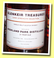Highland Park 21yo 1984/2005 (54.1%, Glenkeir Treasures, Douglas Laing for The Whisky Shop, 450 bottles)