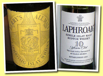 Laphroaig Reserve 1908 (70° proof, Berry Bros and Rudd, probably 1920's)