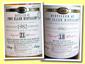 Port Ellen 21yo 1982/2003 (50%, Douglas Laing OMC for Islay Whisky Shop, 216 bottles)