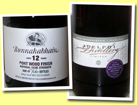 Bunnahabhain 12yo 'Islay Festival 2005' (53.4%, OB, Port wood finish, 766 bottles)