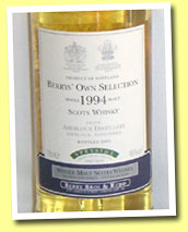 Aberlour 1994/2005 (46%, Berry Bros & Rudd)