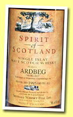 Ardbeg 9yo 1995/2004 (56.4%, Spirit of Scotland for Potstill, sherry cask, cask #1397, 321 bottles)