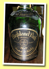 Highland Park 18yo 1960/1978 (43%, OB, 'James Grant green dumpy')