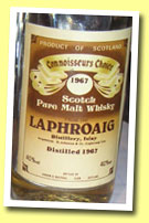 Laphroaig 1967 (40%, G&M Connoisseur's Choice old brown label, early 1980's)