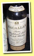 Macallan 15yo 1956 (80 proof, OB, Rinaldi)