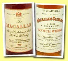 Macallan 10yo (70 proof, OB label but bottled by G&M, 60's)