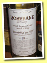 Rosebank 10yo 1991 (43%, Lord of Scotland, Nextstar brands)