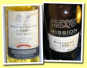 Rosebank 1990/2005 (46%, Berry Bros & Rudd, casks #1518-1519-1520)