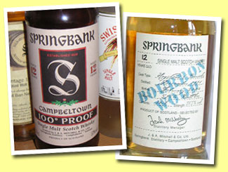 Springbank 12yo '100° Proof' (57%, OB, UK, 'rather light vatting')