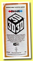 3D (56.4%, Caskstrength.net, blended malt, 504 bottles, 2013)