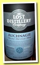 Auchnagie (46%, The Lost Distillery Company, blended malt, 2013)
