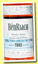 Benriach 27 yo 1985/2013 (48.9%, OB, batch 10, virgin American oak finish, cask #7188, 257 bottles)