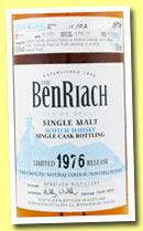 Benriach 37 yo 1976/2013 (49.6%, OB, batch 10, hogshead, cask #2013, 102 bottles)