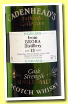 Brora 13 yo 1982/1996 (59.9%, Cadenhead, Authentic Collection)