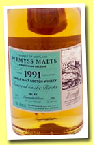 Bunnahabhain 1991/2013 'Seaweed on the Rocks' (46%, Wemyss Malts, hogshead, 294 bottles)