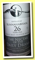 Bunnahabhain 26 yo 1987/2013 (60.3%, The Nectar of the Daily Drams, joint bottling with LMDW, dark version)