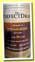 Bunnahabhain 25 yo 1987/2013 (49,4%, The Whisky Agency, Perfect Dram, Fino hogshead, 255 bottles)