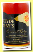 Clyde May's Conecuh Ridge (42.5%, OB, Alabama whiskey, +/-2013)