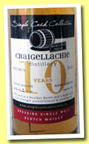 Craigellachie 10 yo 2003/2013 (54.5%, Single Cask Collection, bourbon barrel, rum finish)