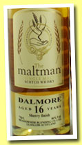 Dalmore 16 yo 1996/2013 (46%, The Maltman, sherry finish, cask #3221)